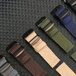 VENETA Two-piece Perlon Nylon Weave Light 20mm 22mm Watch Strap Band 6 Colors