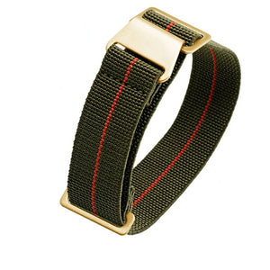 PARATROOP Braid French Navy MN Style Elastic Nylon Watch Strap Belt 19mm 20mm 21mm 22mm