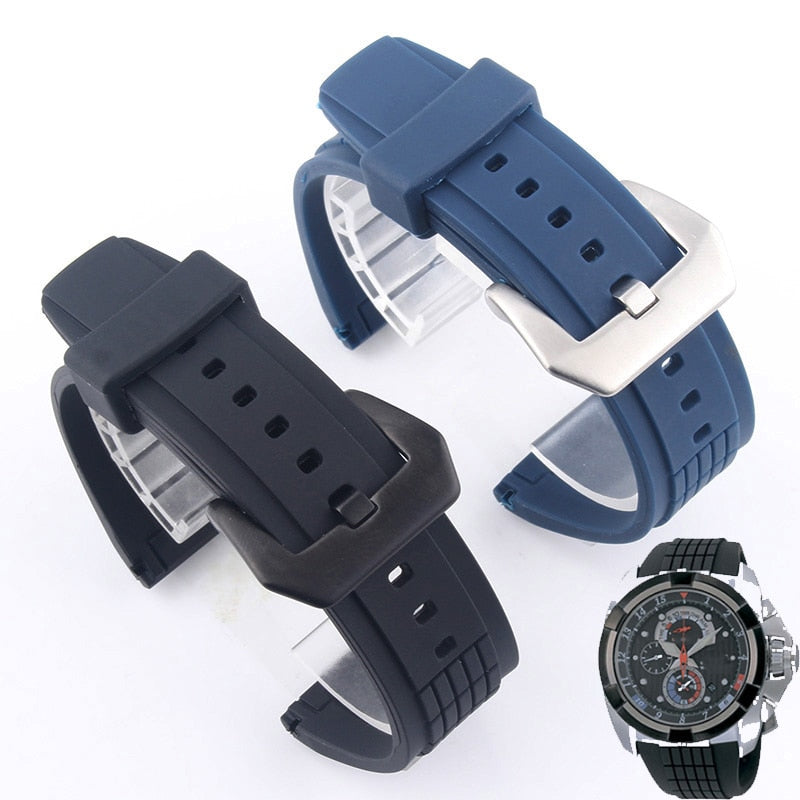 DRIVE 26mm Waterproof Thick Silicone Watch Band Strap For SEIKO Velatura SPC007J1