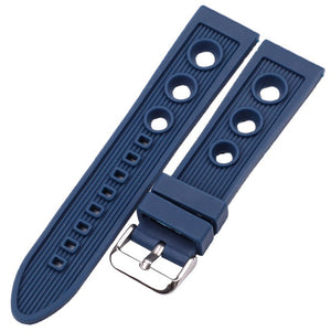 OCTO 22mm Soft Natural Soft Silicone Watch Band Strap For All Watch Brands