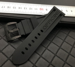 SUB-E 24mm Waterproof Rubber Watch Band Strap for Panerai PAM 6 Colors 8 Buckles