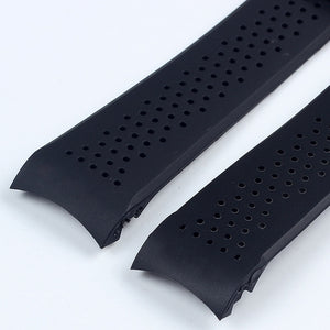 BREATHE 22mm 24mm Natural Rubber Watch Strap Band w/Logo For TAG Heuer Carrera Aquaracer