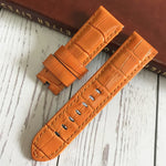 LUMINOR 24mm Italy Calf Leather Watch Band Strap For Panerai PAM 111/386/441/1312