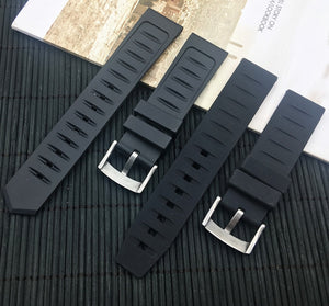 GARDE 20mm 22mm Natural Soft Rubber Watch Strap Band w/Logo For TAG Heuer Carrera Aquaracer