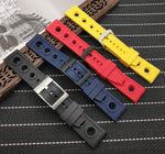 BREITSTER-II 22mm 24mm Soft Rubber Watch Band Strap For Breitling Navitimer Avenger