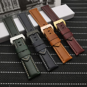 PRIME 22mm 24mm 26mm Vintage Italy Calf Leather Watch Band Strap For Panerai PAM 111/386/441/1312