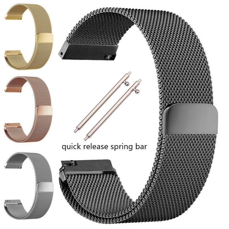 MAGNETO Milanese Mesh Magnetic Stainless Steel Watch Band Bracelet 16mm 18mm 20mm 22mm 24mm