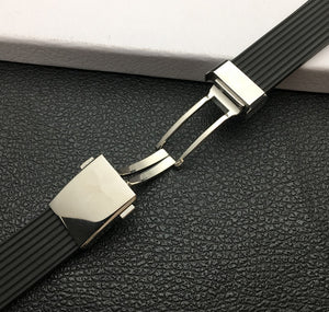 BREITSTRIPE 24mm Natural Rubber Watch Band Strap for Breitling Avenger Navitimer SuperOcean w/Logo