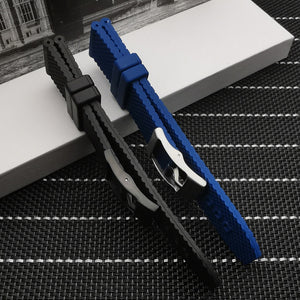 BREITMAN 22mm 24mm Premium Rubber Watch Band Strap for Breitling Navitimer Avenger SuperOcean w/Logo