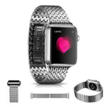 NOVA Link Band Steel Armour B-fly Buckle for 38/40/42/44mm Apple Watch 4 3 2 1