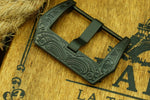 CUSTOM Exquisite Carved Brushed Black Watch Buckle for Panerai 22mm 24mm 26mm