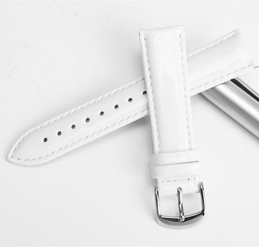 MEGAN Glossy Red Genuine Leather Watch Band 12mm 14mm 16mm 18mm 20mm
