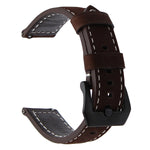 TOM Italy Genuine Leather Strap Watch Band for Samsung Galaxy 46mm Gear S3 Classic Frontier