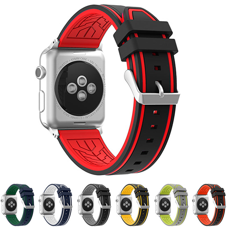 MICHELIN Rubber Silicone Strap Band 5 Colors for 38/40/42/44mm Apple Watch 5 4 3 2 1