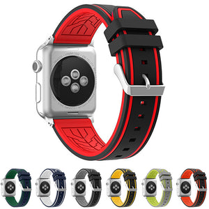 MICHELIN Rubber Silicone Strap Band 5 Colors for 38/40/42/44mm Apple Watch 4 3 2 1