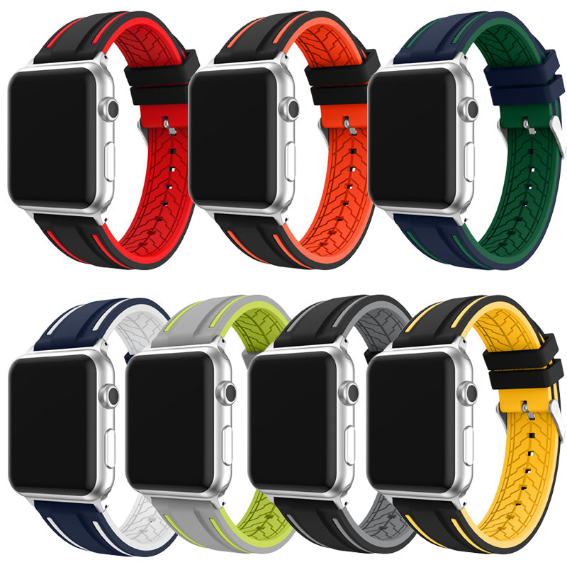 MICHELIN Rubber Silicone Strap Band for 38mm 42mm Apple Watch Series 1 2 3