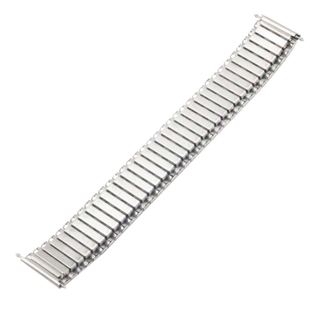 COIL Stretch-fit Elastic Stainless Steel Silver Watch Band Bracelet 12mm to 24mm