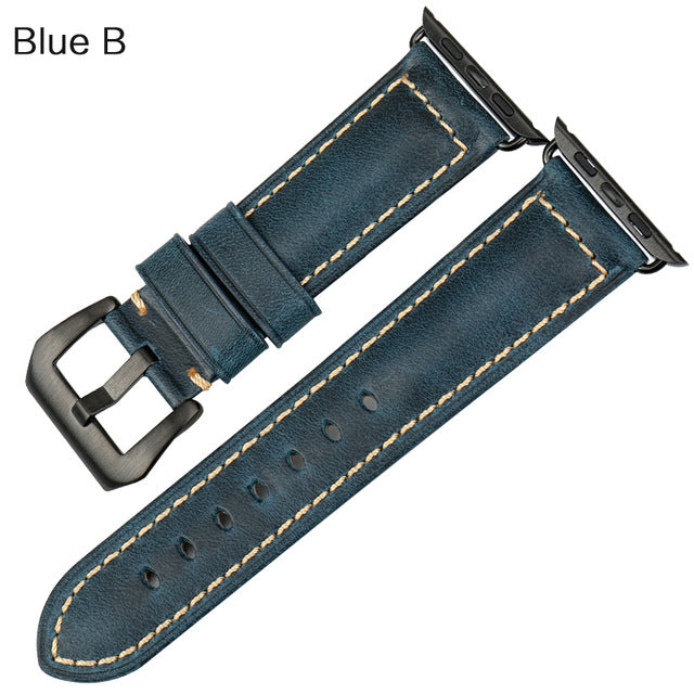 REDWING-Inspired Genuine Leather Watch Strap Band for 38/40/42/44mm Apple Watch 5 4 3 2 1