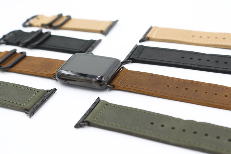 SWANKY Handmade Leather Strap Band for 38/40/42/44mm Apple Watch 5 4 3 2 1