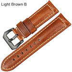 DARKWINE Red Genuine Italian Leather Watch Strap Band 20mm 22mm 24mm 26mm