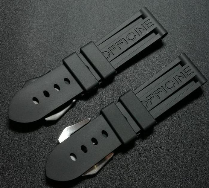 SUB Waterproof Rubber Watch Band for Panerai w/PAM Logo Buckle 22mm 24mm 26mm