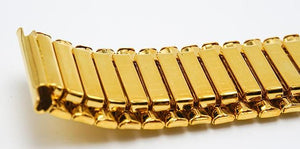 COIL Stretch-fit Elastic Stainless Steel Gold Watch Band Bracelet 12mm to 22mm