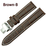 PLUMPED Genuine Leather Watch Strap Band Butterfly Buckle 18mm to 22mm