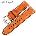 KCROCS Genuine Leather Watch Strap Band for PANERAI 20mm 22mm 24mm 26mm