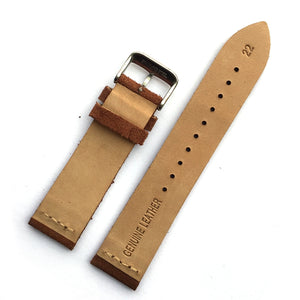 SUEDE Design Unique Classic Genuine Cow Leather Watch Band Strap 18mm 20mm 22mm