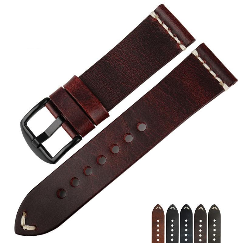 MARCH-2 BloodLine Vintage Oiled Leather Watch Strap Band 22mm 24mm 6 ColorsMARCH2 BloodLine Vintage Oiled Leather Watch Strap Band 20mm 22mm 24mm 6 Colors