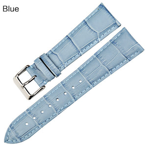 AMETHYST Genuine Cow Leather Watch Band Strap 12mm to 22mm 8 Colors