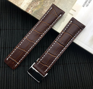 BREITLUX Premium Leather Watch Band Strap for Breitling Navitimer Avenger 22mm 24mm
