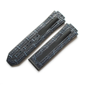 LEGEND Leather Stitched Rubber 25x17mm Watch Strap Band for Hublot Big Bang Fusion