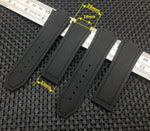 MAJESTIC Grey Series Leather Rubber Strap Watchband for Hublot Big Bang Fusion 25x19mm