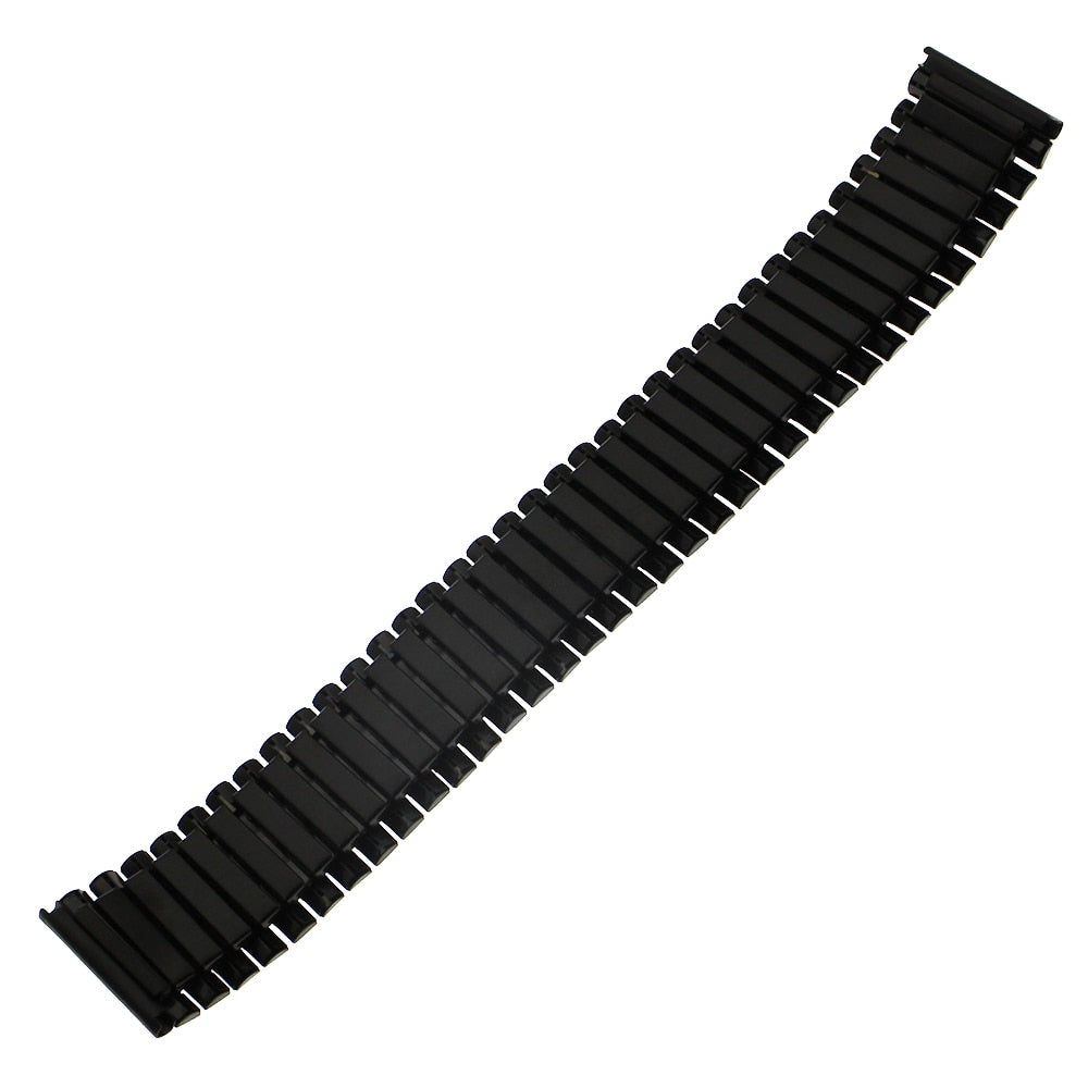COIL Stretch-fit Elastic Stainless Steel Cool Black Watch Band Bracelet 12mm to 24mm