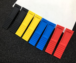 BREITIME-C Natural Rubber Watch Band Strap for Breitling Navitimer Avenger 22mm 24mm 4 Colors