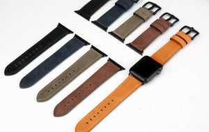 ARTISAN Handsome Genuine Leather Watch Band for 38/40/42/44mm Apple Watch 5 4 3 2 1