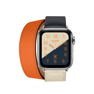INSPIRED Double Tour Leather Watch Band Strap for 38/40/42/44mm Apple Watch 5 4 3 2 1
