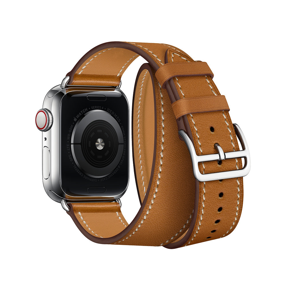 INSPIRED Double Tour Leather Watch Band Strap for 38/40/42/44mm Apple Watch 4 3 2 1