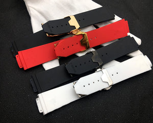 CAMO Smooth Silicone Rubber Strap Watch Band for Hublot Big Bang Fusion 25x17mm