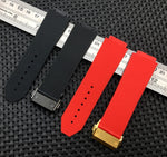 CHAMP Smooth Silicone Rubber Strap Watch Band for Hublot Big Bang Fusion 25x19mm