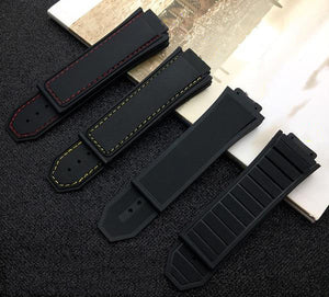STEALTH Pure Black Silicone Rubber Watch Band 29x19mm for Hublot Big Bang King Power