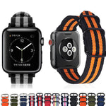 BALLISTIC Nylon Natobelt Style Strap Band for 38/40/42/44mm Apple Watch 4 3 2 1