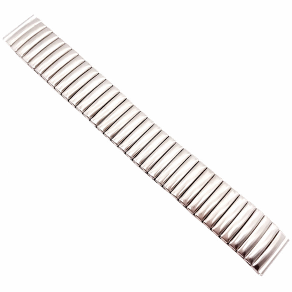 COIL Stretch-fit Elastic Stainless Steel Silver Watch Band Bracelet 12mm to 22mm