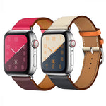 SHIMMER Single Tour 2-Tone Leather Watch Band Strap for 38/40/42/44mm Apple Watch 5 4 3 2 1