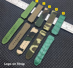 ARCADIA Real Leather & Rubber Strap Watchband for Hublot Big Bang Fusion 25*19mm