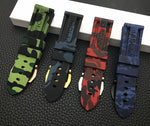 HYDRA 24mm Camo Series Silicone Rubber Watch Band Strap For Panerai/Pam With Logo