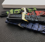 HYDRA Camo Series Silicone Rubber Watch Band Strap 22mm 24mm For Panerai Pam