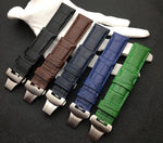 MONTY 24mm Real Leather Watch Band Strap B-fly Buckle For Panerai PAM111/386/441/1312