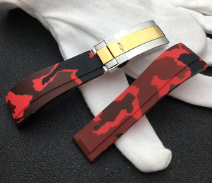 MASTER 20mm Camo Series Silicone Rubber Watch Band Strap For Daytona Submariner GMT Datejust
